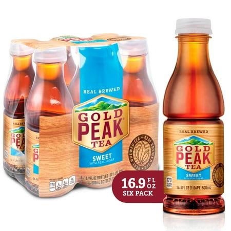 (2 Pack) Gold Peak Sweet Tea, 16.9 Fl Oz, 6 Count (Arizona Diet Iced Tea)