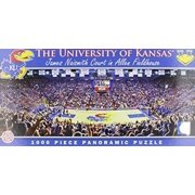 MasterPieces Collegiate Kansas Jayhawks 1000 Piece Stadium (Basketball) Panoramic Jigsaw Puzzle