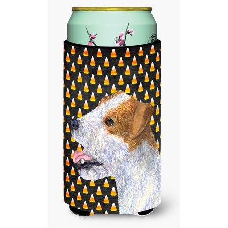 Jack Russell Terrier Candy Corn Halloween Portrait Ultra Beverage Insulators for slim cans SS4297MUK - Chris Russell Halloween