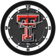 Suntime ST-CO3-TTR-CFCLOCK Texas Tech Red Raiders-Carbon Fiber Textured Wall Clock