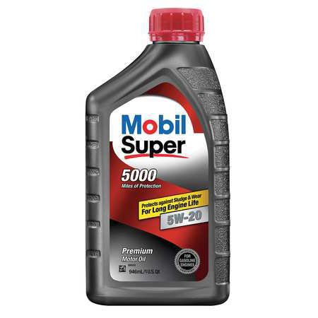 Mobil 120433 engine oil 5w 20 1 qt for 30 weight motor oil