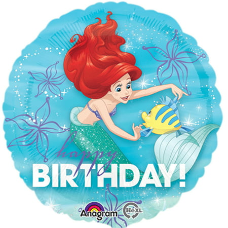 Little Mermaid Ariel Happy Birthday Authentic Licensed Foil / Mylar Balloon 18
