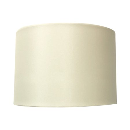 Royal Designs Uno Drop Shallow Drum Hard Back Eggshell Table Lampshade, 13 x 14 x 9