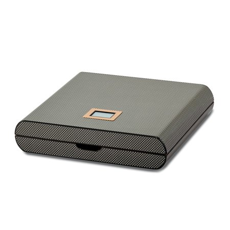 Carbon Fiber Veneer High Gloss Finish 10 Cigar Digital Humidor