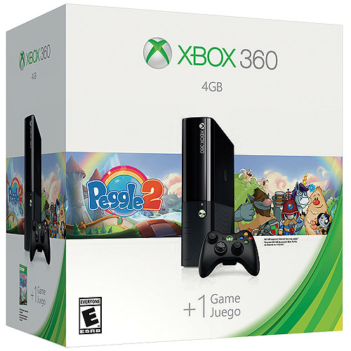 Xbox 360 4GB Peggle 2 Value Console Bundle