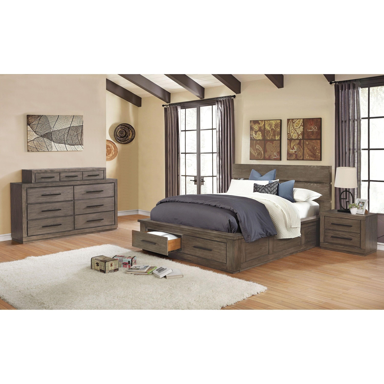 Carbon Loft Beckett Rustic California King Storage Bed 2 Piece Set Walmart Com Walmart Com