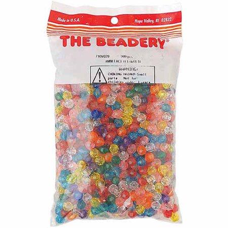 - Beadery Faceted Beads, 8mm, 900/pkg, Multi