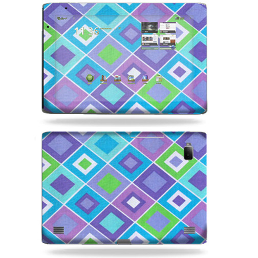 Mightyskins Protective Vinyl Skin Decal Cover for Acer Iconia Tab A500 tablet wrap sticker skins Pastel Argyle