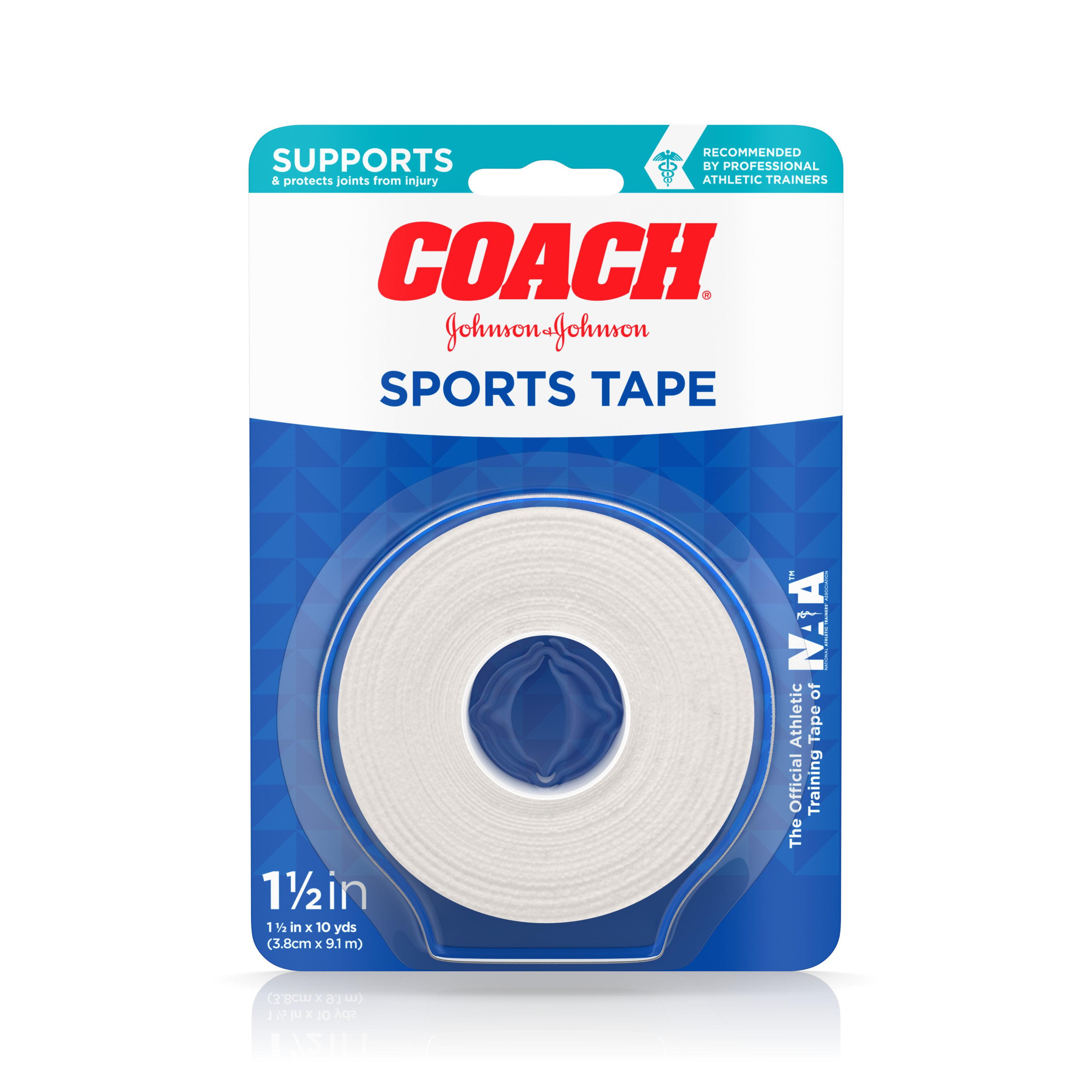 Johnson & Johnson Coach Sports Cloth Tape 1.5 in x 10 yd