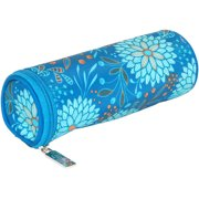 "Everything Mary Teal Floral Hook Case 8""X2.75""X2.75""-"