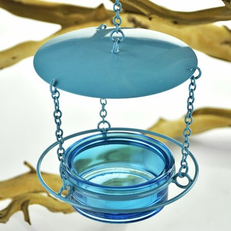Couronne Recycled Glass Decorative Bird Feeder ()