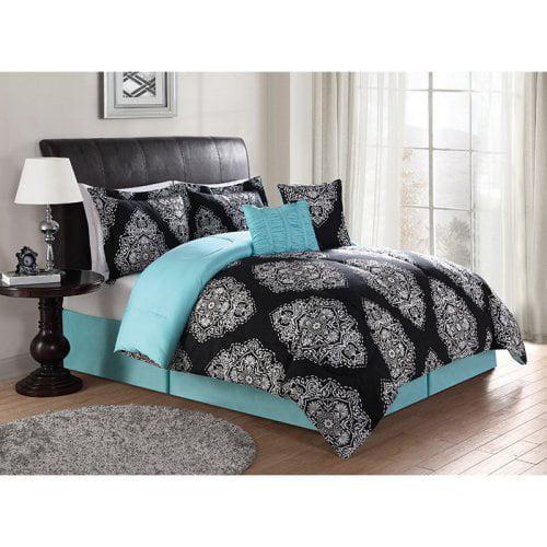 Barba Black 7-Piece Comforter Set by Lifestyles