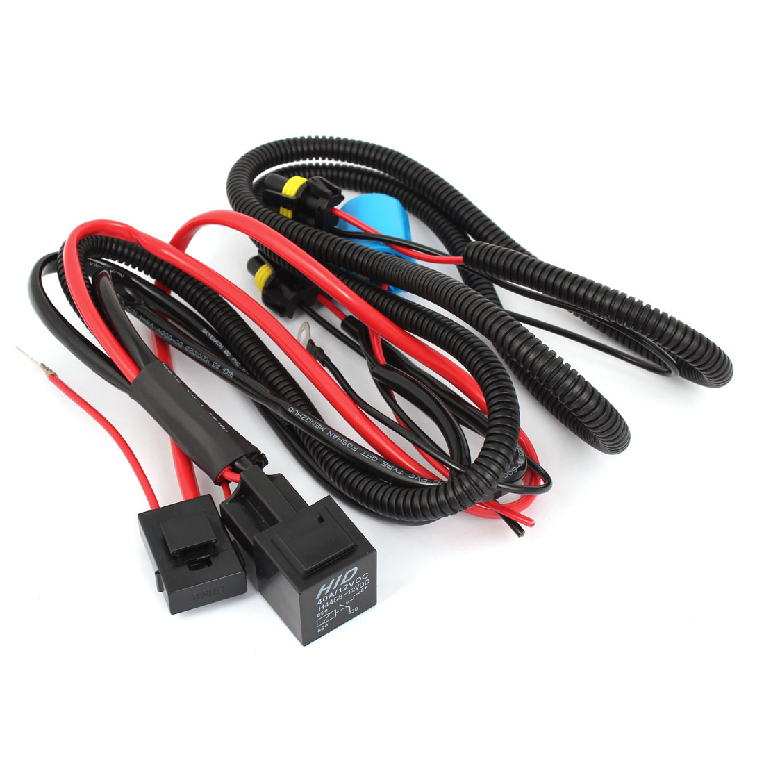 Unique Bargains Xenon Hid Conversion Relay Wiring Harness 9004 9007 Wire H13 12v 40a