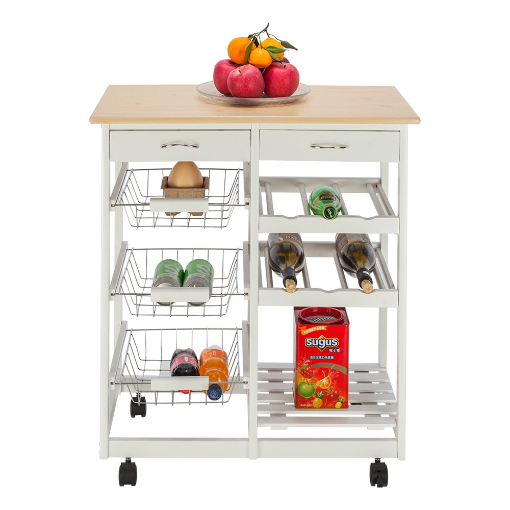 Kitchen Cart With Drawers: Kitchen Island Cart Trolley, Sturdy Microwave Oven Stand