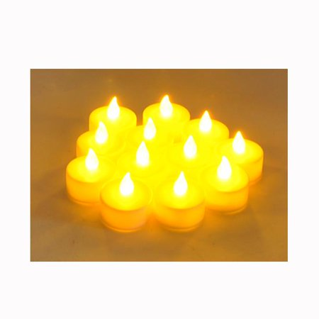 Instapark LCL-12 Battery-powered Flameless Pet-safe and Child-safe Wind-proof Indoor & Outdoor Decoration Flickering LED Faux Tea Light Candles, 1-Dozen per Pack