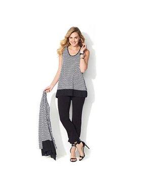 2d4e153ce71f3 Product Image LIZ LANGE Soft Tunic Top Blouse Sleeveless and Ultimate Pants  Set Size X-Small