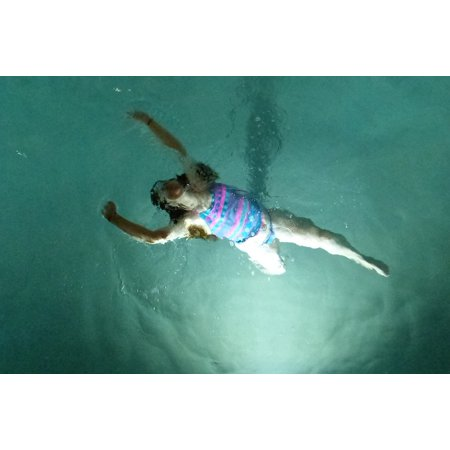 LAMINATED POSTER Water Blue People Swimming Float Pool Floating Poster  Print 24 x 36
