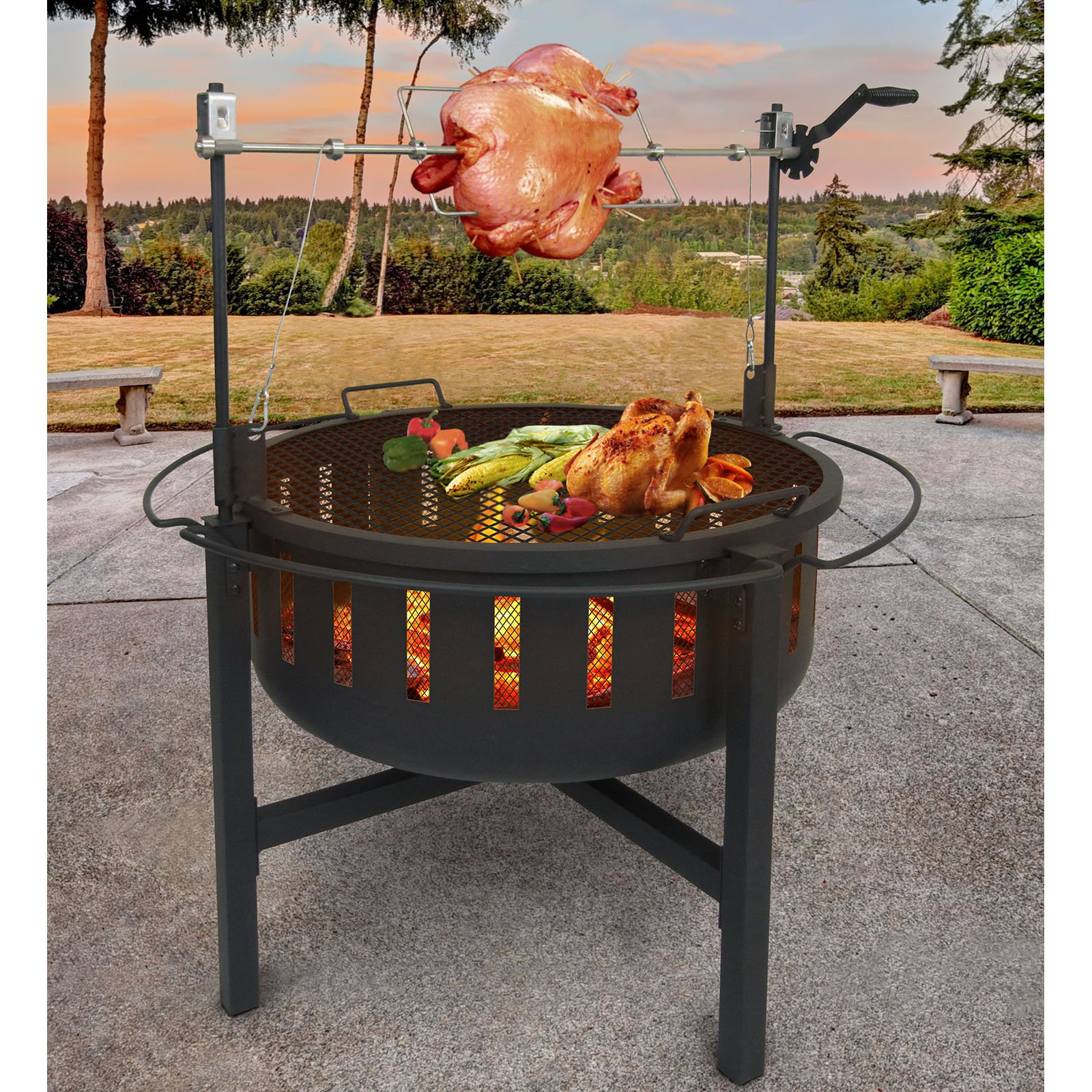 Landmann Fire Rock Firepit and Grill with Rotisserie by LANDMANN MCO LIMITED