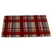 Holiday Red Plaid Accent Throw Rug Non Skid Mat 20x34