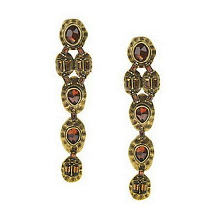 Heidi Klum Faceted Stone Linear Earrings Clip On J263119