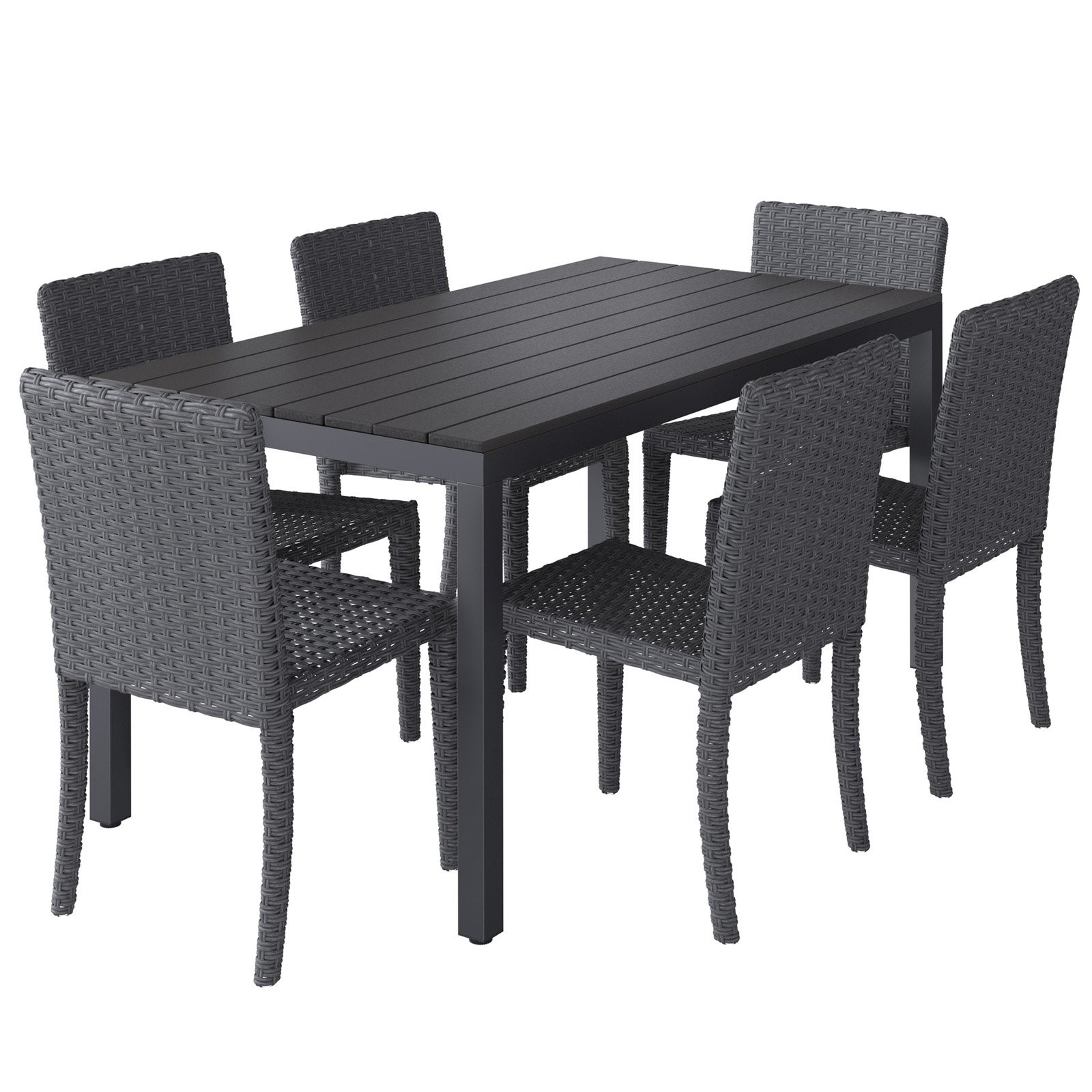 CorLiving 7pc Outdoor Oblong Dining Set