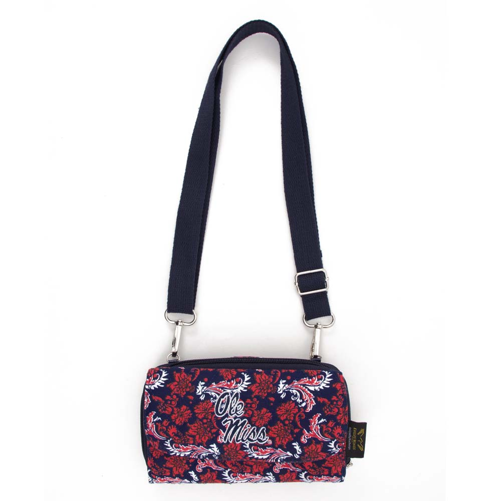 Mississippi Bloom Crossbody Wallet