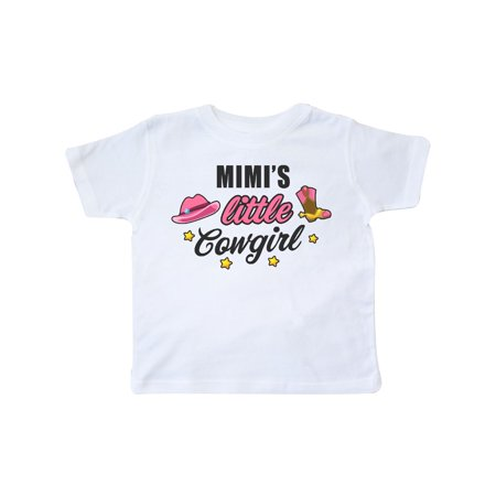 Mimis Little Cowgirl with Cowgirl Hat and Boots Toddler T-Shirt](Toddler Cowgirl Hat And Boots)