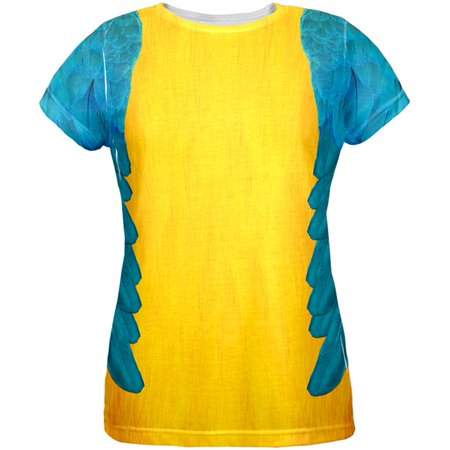 Halloween Blue & Yellow Parrot Macaw Costume All Over Womens - Macaw Costume