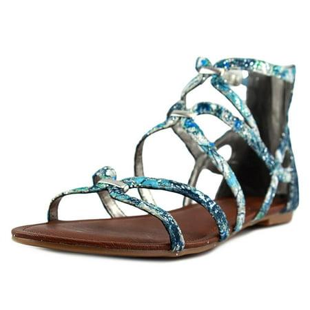2e0d5b7efe3 Carlos by Carlos Santana Emma Women Open Toe Canvas Blue Gladiator Sandal