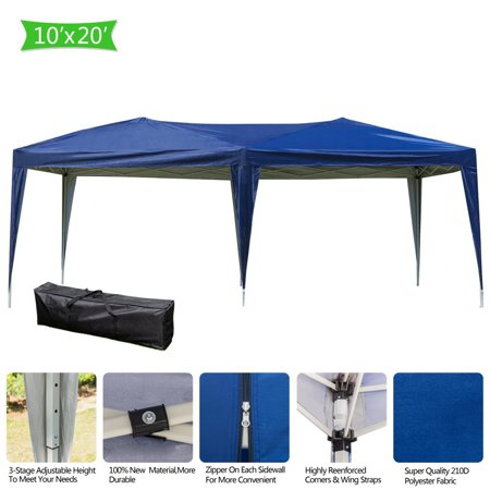 Ktaxon 10'X 20' Pop UP Wedding Party Tent Folding Gazebo Canopy Car Tent w/ Carry (10 X 20 Car Canopy)