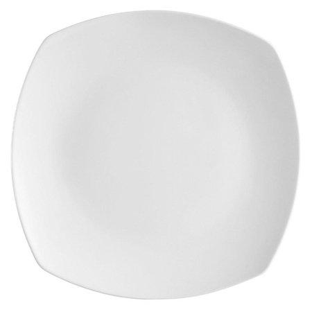 "City Arts China HSQ16 Hampton 10.5"" White Round In Square Plate"