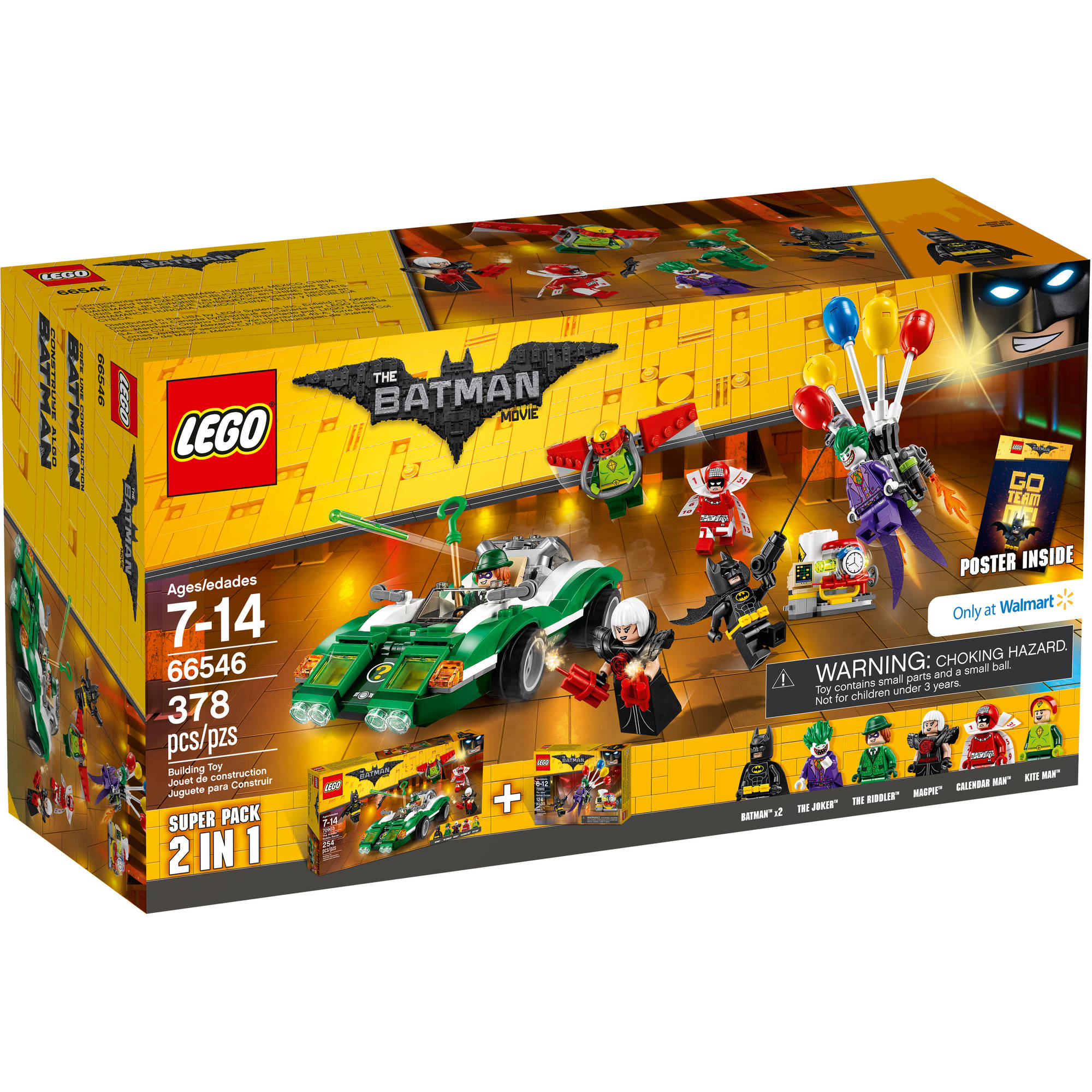 The LEGO Batman Movie - Copack (66546) The Joker Balloon Escape ...