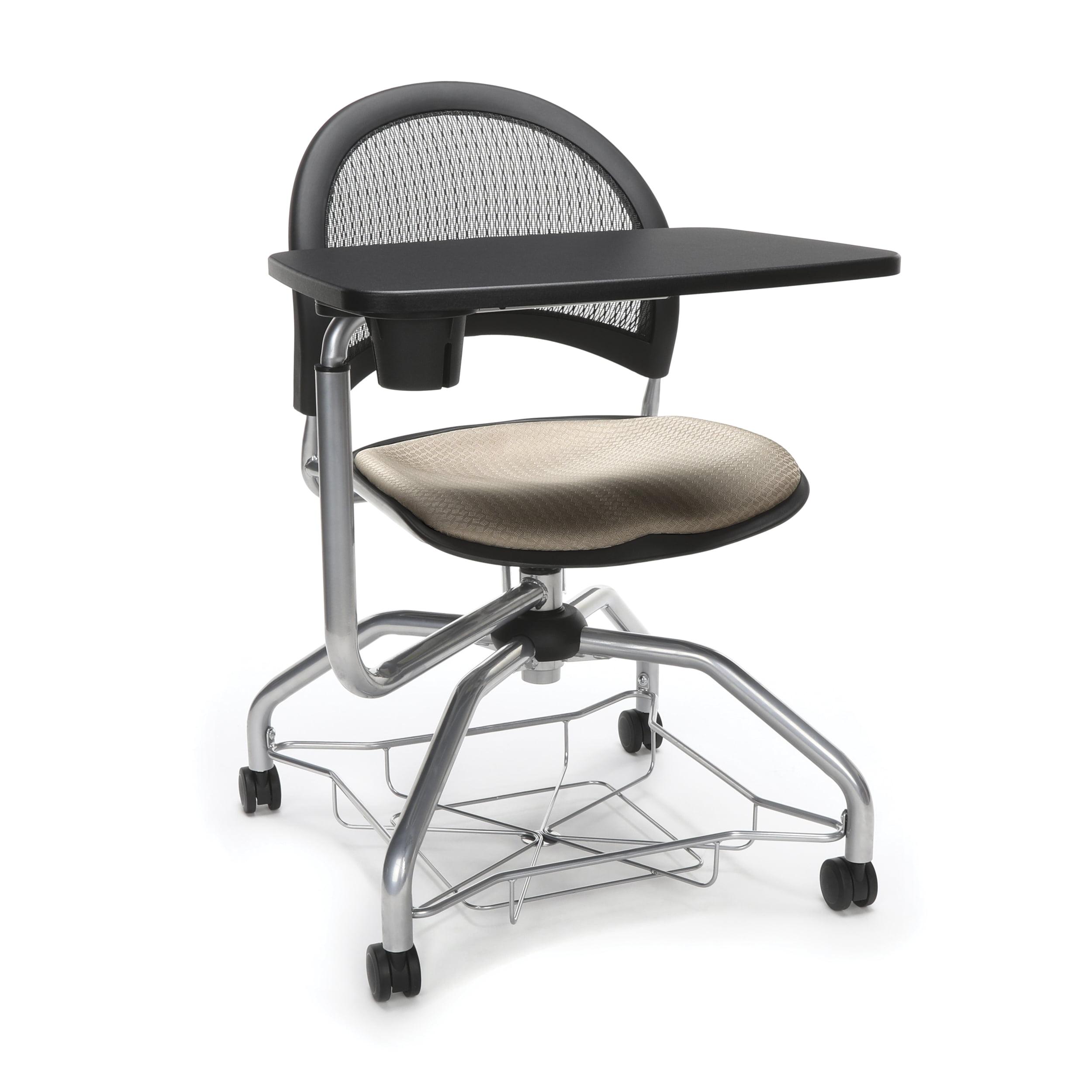 Ofminc School Furniture StarMoon Series 300 Lbs Swivel Mesh Back Foresee Shamrock Green Tablet Under-Seat Basket Chair