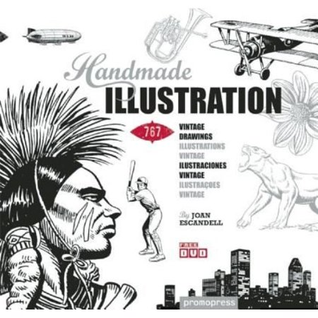 Handmade Illustration: 767 Vintage Drawings Illustrations