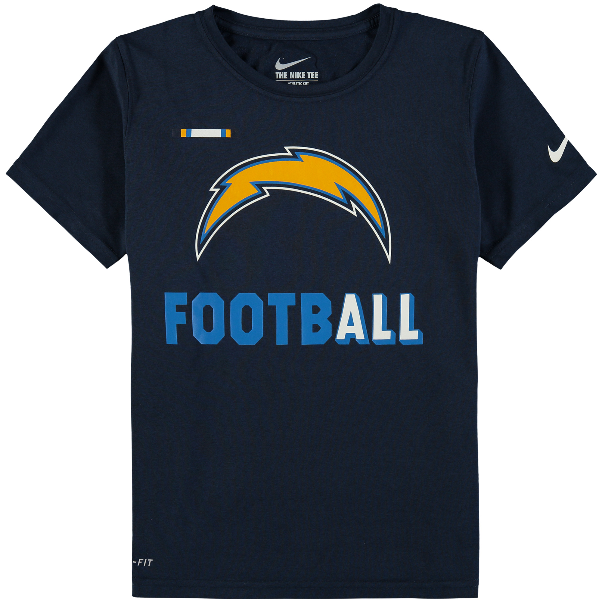 Los Angeles Chargers Nike Youth Legend Football Performance T-Shirt - Navy