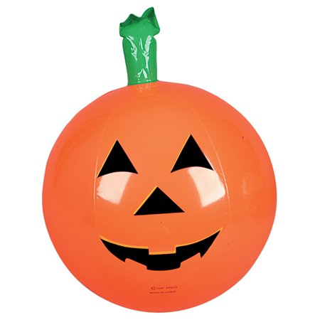 Inflatable Classic Halloween Pumpkin Jack-O-Lantern Beach Ball Prop Decoration