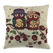 Luxbon - Durable Machine Washable Tapestry Jacquard Throw Pillow Case Custhion Cover 18 x 18