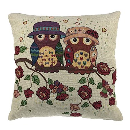 Throw Pillows With Washable Covers : Luxbon - Durable Machine Washable Tapestry Jacquard Throw Pillow Case Custhion Cover 18 x 18 ...