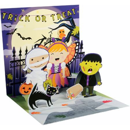 Up With Paper Scary Shadow Pop-Up Halloween Card