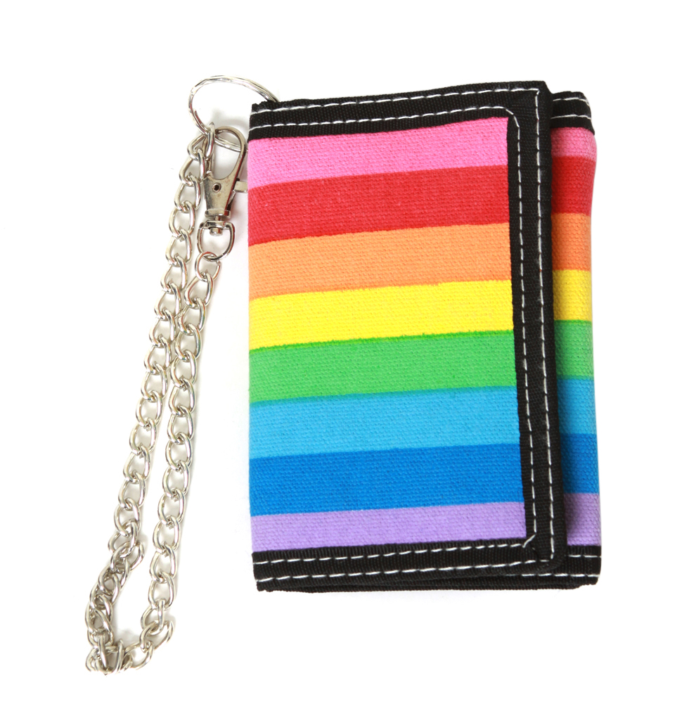 Rainbow Colored Wallet w/ Chain