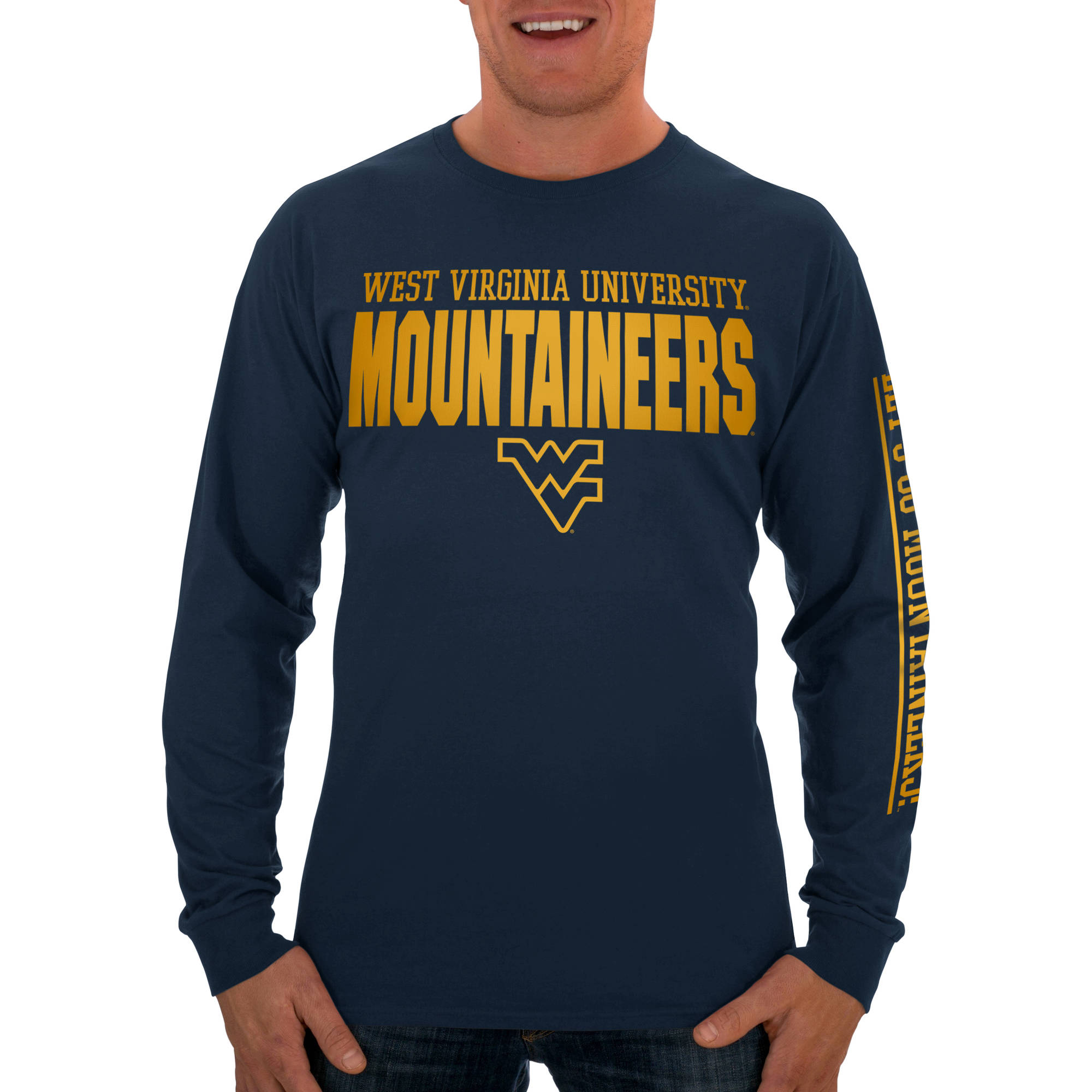 Russell NCAA West Virginia Mountaineers Men's Long  T-Shirt