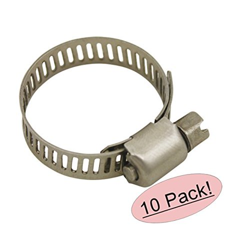 Size 6 All Stainless Steel Hose Clamp - 1/2