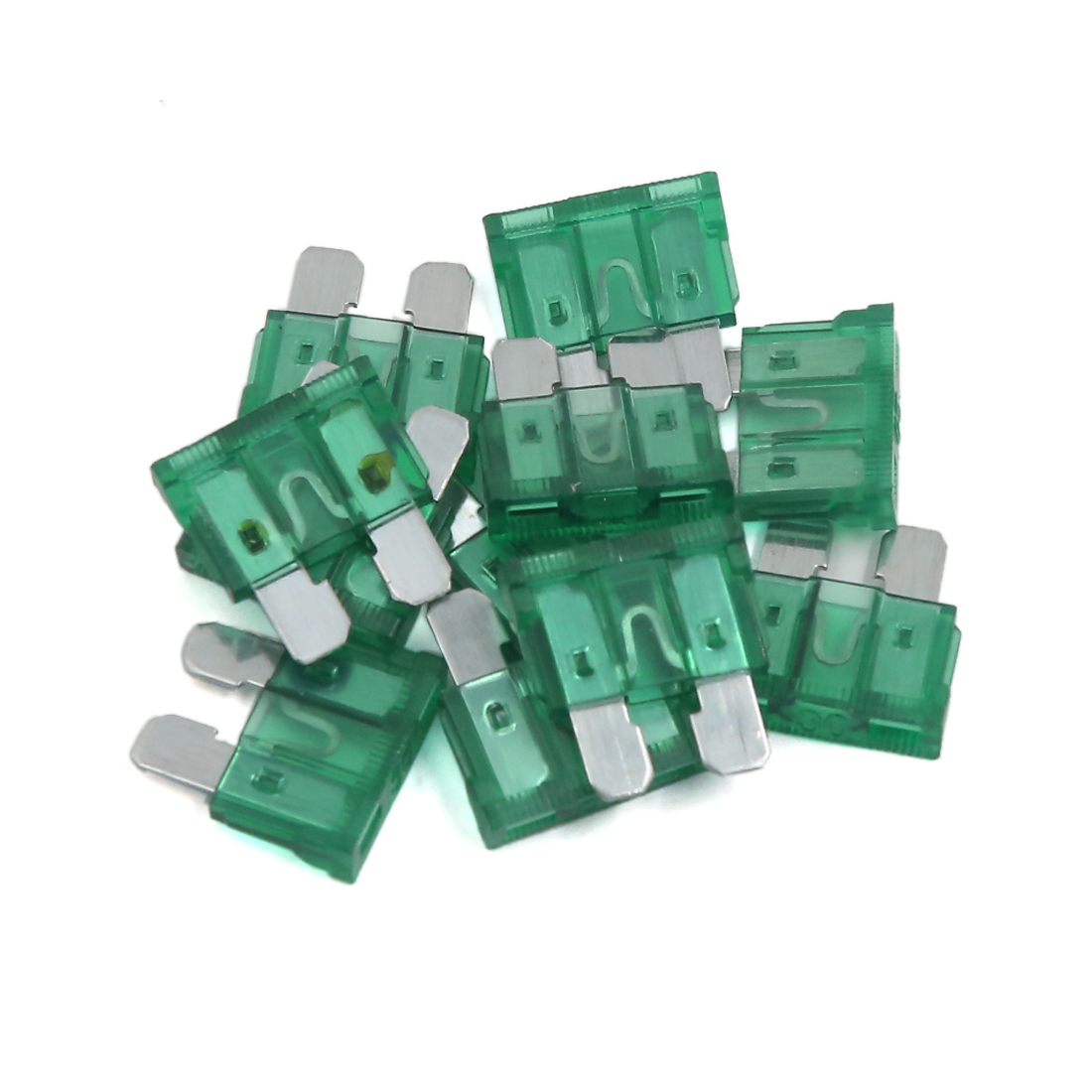 Unique Bargains Universal Car SUV Motorcycle 30A Fuse ATO ATC Standard Blade Fuses 10 Pcs