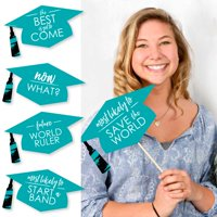 Hilarious Teal Grad - Best is Yet to Come - Turquoise Graduation Party Photo Booth Props Kit - 20 Count