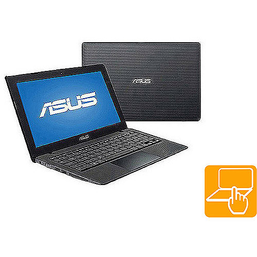 "Asus Black Matte 11.6"" K200MA-DS01T Laptop PC with Intel Baytrail-M N2815 Dual-Core Processor, 4GB Memory, Touchscreen, 500GB Hard Drive and Windows 8.1"