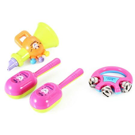 5pcs Novelty Kids Roll Drum Musical Instruments Band Kit Children Toy Baby Gift Set - image 2 de 8