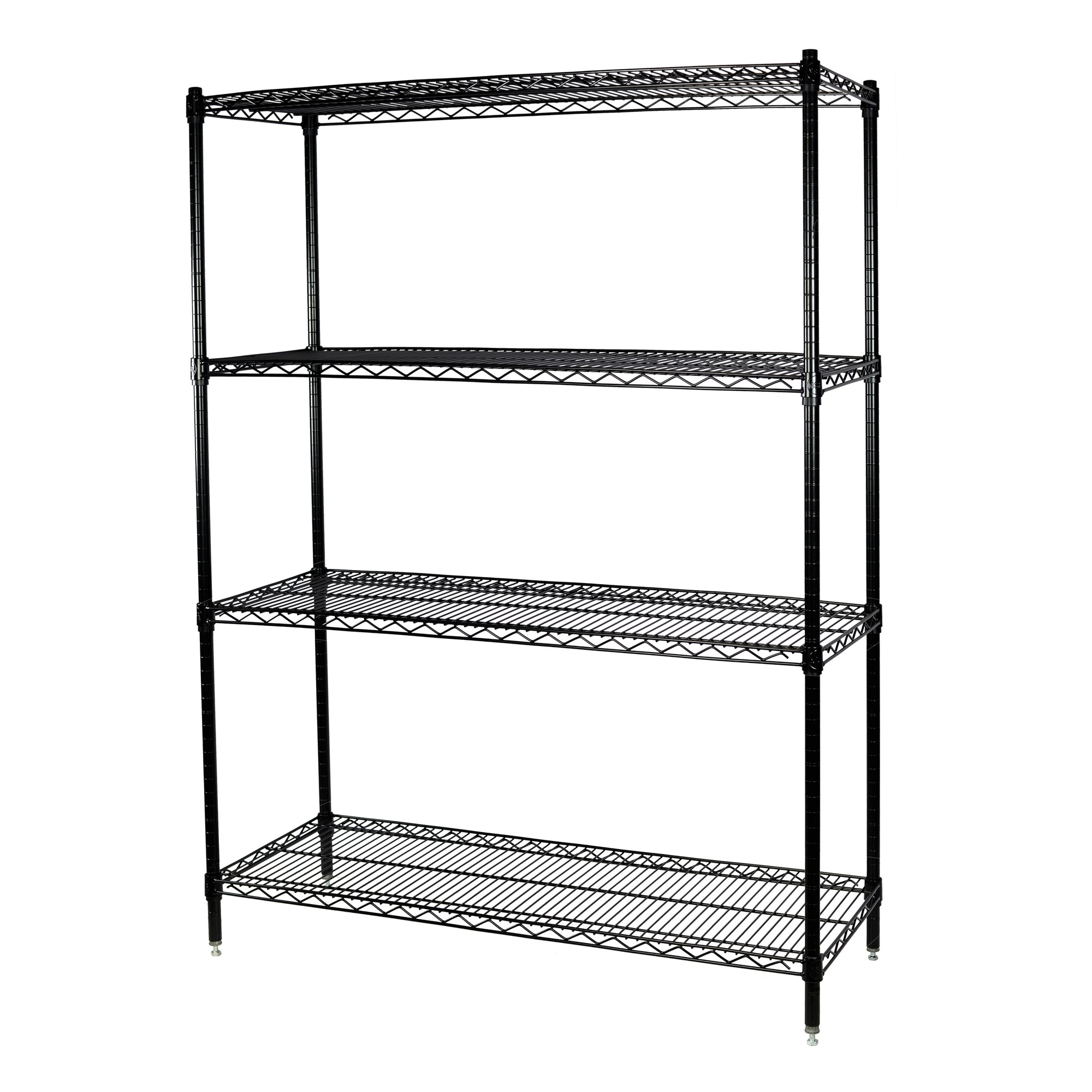 Storage Max Black Wire Shelving Unit, 24 x 60 x 74, 4 Shelves