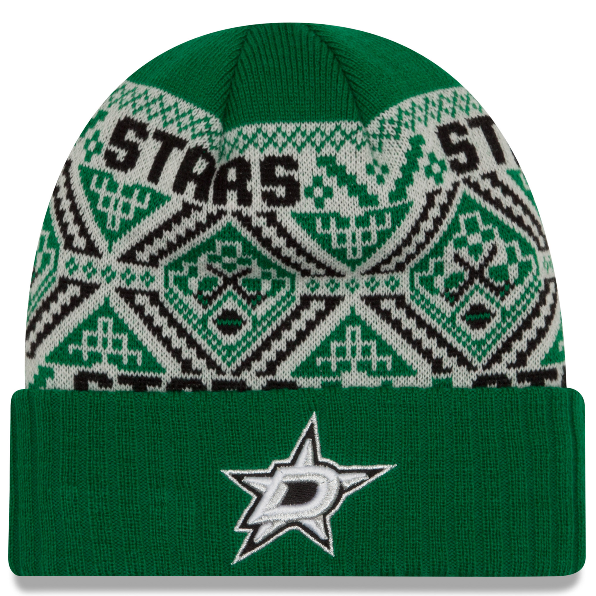 Dallas Stars New Era Cozy Cuffed Knit Hat - Kelly Green - OSFA