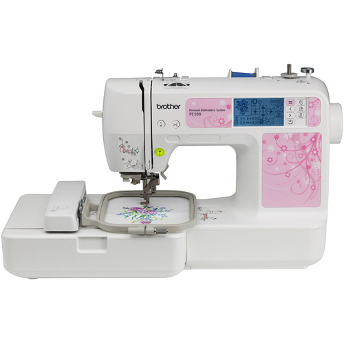 Brother PE-500 Embroidery Machine with 70 Built-In Designs and 120 Built-In Frame Patterns