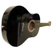 """38"""" Starter Acoustic Guitar with Performer Package - Black"""